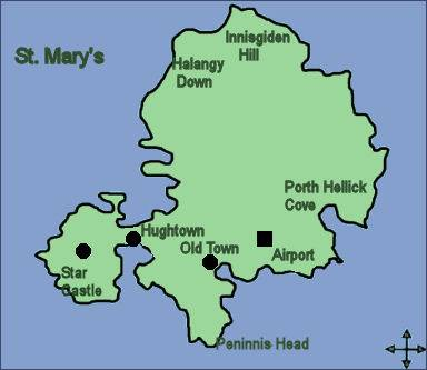 St Mary's, Scilly Map